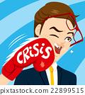 Crisis Punch Businessman 22899515