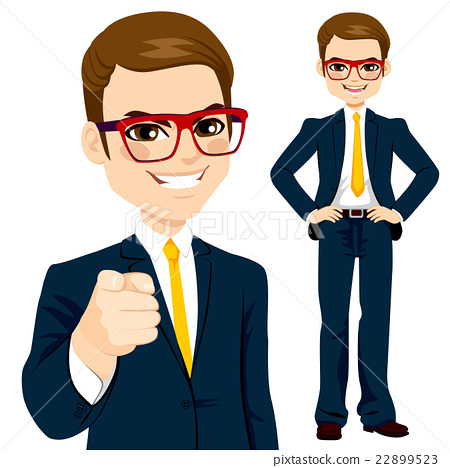 Businessman Pointing Finger 22899523
