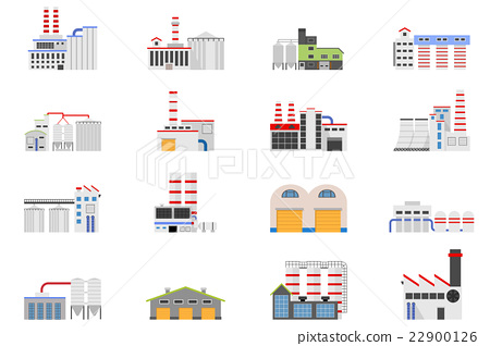 Industrial and manufacturing factory building. 22900126