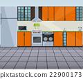 vector, kitchen, oven 22900173