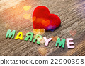 Marry me message written by colour paper 22900398