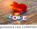 Love message written by colour paper 22900400
