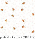 Autumn leaves of maple and oak, seamless pattern 22903112