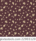 Autumn leaves of maple and oak, seamless pattern 22903120