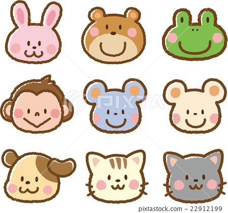 動物插畫素材【臉2】 22912199