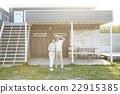 夫婦 獨立式住宅 室外 22915385