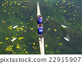 Two rowers  rowing 22915907