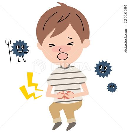 一个患有腹痛的男孩 22916694