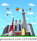 東京 城市風光 晴空塔 22918268