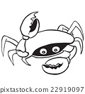 black and white crab 22919097