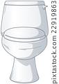 White Shiny Toilet 22919863