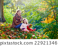 mother and little daughter at beautiful autumn 22921346