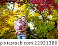 mother and her little daughter at beautiful autumn 22921380