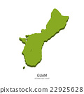 Isometric map of Guam detailed vector illustration 22925628