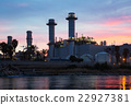 Evening view of power plant 22927381