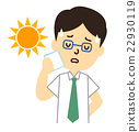 heatstroke, office worker, business man 22930119
