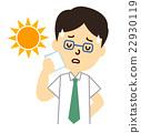 中暑 夏天热疲劳 男人们 22930119