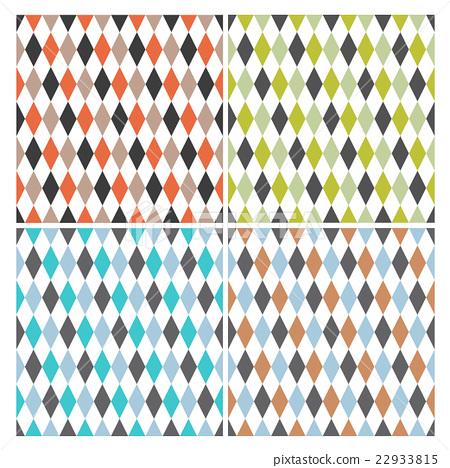 Four retro circus seamless pattern. Vector.  22933815