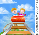 Roller Coaster Fair Theme Park 22934413