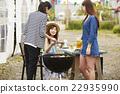 女性 烤肉 燒烤 22935990