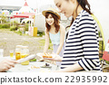 女性 烤肉 燒烤 22935992