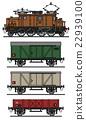 Vintage electric cargo train 22939100