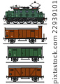 Old electric cargo train 22939101