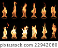 real fire collection isolated on black background 22942060