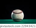 야구 공, 녹색과 검은 색 배경 22943421
