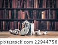 ชั้นวางหนังสือ,ถังขยะ,หนังสือ 22944756
