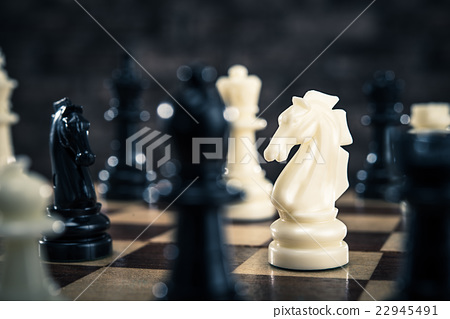 Close-up of chess pieces 22945491