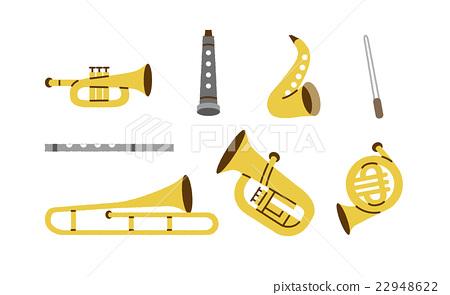 管乐器部分乐器各种各样 22948622