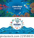 Sea Underwater Life Horizontal Banners 22958635