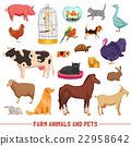 Farm Animals And Pets Set 22958642