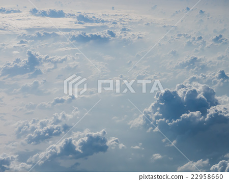 Cloudscape, white cloud on the sky 22958660