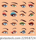 Eye Makeup Icons Set 22958724