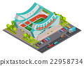 Sport Stadium Isometric Outdoor Composition Banner 22958734