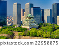 Himeji as known as Osaka castle against the skys 22958875
