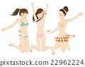三個泳裝女孩 22962224