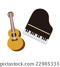 鋼琴 吉他 矢量 22965333