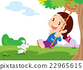 Cute girl sitting on swing 22965615