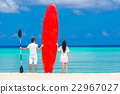 Young happy couple during beach vacation 22967027