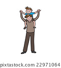 Boy on father shoulder cartoon 22971064