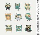 Cute, hand drawn owl illustrations 22973579