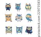 Cute, hand drawn owl illustrations 22973583