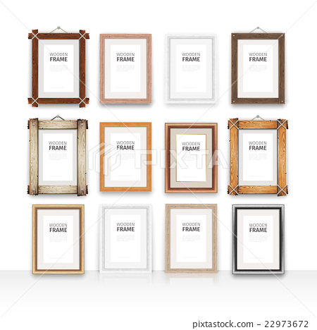 Wooden Rectangle Frames Set 22973672