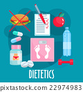 Dietetics, nutrition, healthy lifestyle flat icon 22974983