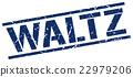 waltz blue grunge square vintage rubber stamp 22979206