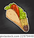 food, tortilla, taco 22979448