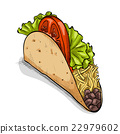 vector, food, tortilla 22979602